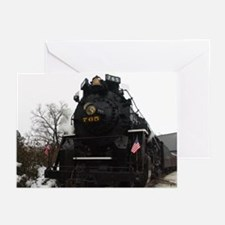 Steam Engine Christmas - Cover Greeting Cards