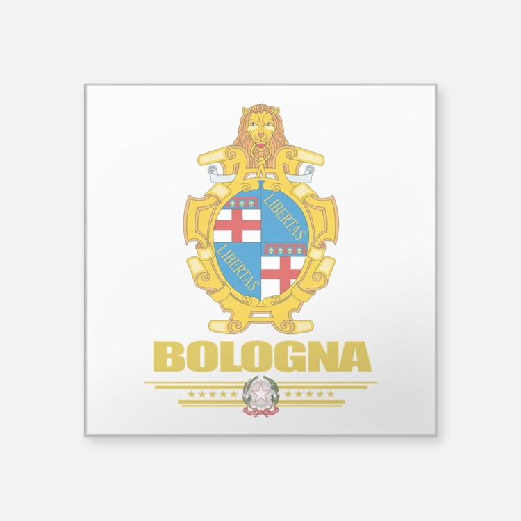 """Bologna (Flag 10).png Square Sticker 3"""" x 3"""""""