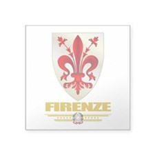 """Firenze (Flag 10).png Square Sticker 3"""" x 3"""""""