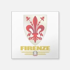 "Firenze (Flag 10).png Square Sticker 3"" x 3"""