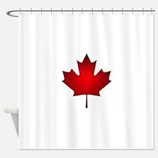 Maple Leaf Grunge Shower Curtain