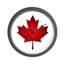 Maple Leaf Grunge Wall Clock