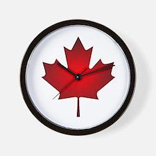 Maple Leaf Grunge Wall Clock