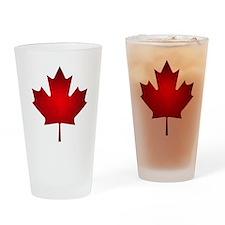 Maple Leaf Grunge Drinking Glass