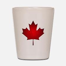 Maple Leaf Grunge Shot Glass