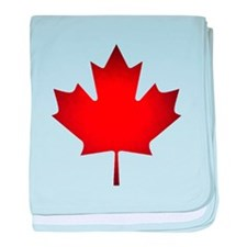Maple Leaf Grunge baby blanket