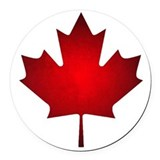 Canadian flag Round Car Magnets
