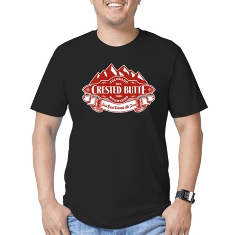 Crested Butte Mountain Emblem Men's Fitted T-Shirt