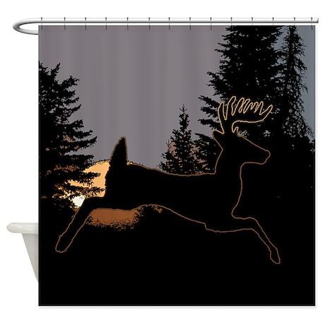 Superior Sunrise Whitetail Shower Curtain