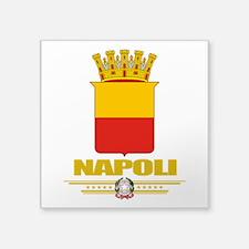 "Napoli (Flag 10).png Square Sticker 3"" x 3"""