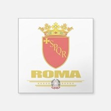 "Rome (Flag 10).png Square Sticker 3"" x 3"""