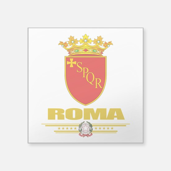 """Rome (Flag 10).png Square Sticker 3"""" x 3"""""""