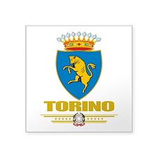 "Torinoi (Flag 10).png Square Sticker 3"" x 3"""