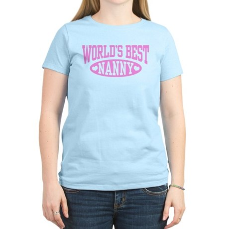 World's Best Nanny Women's Light T-Shirt