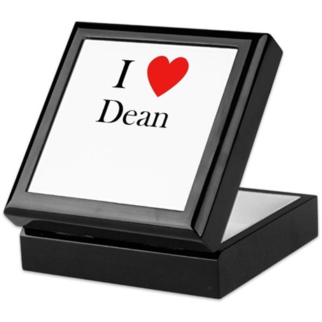 i love Dean heart Keepsake Box