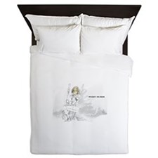 Point Blank White Logo Queen Duvet