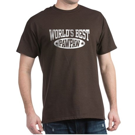 World's Best PawPaw Dark T-Shirt