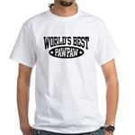 World's Best PawPaw White T-Shirt