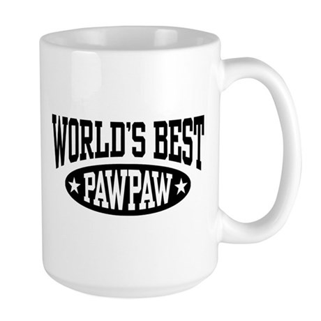 World's Best PawPaw Large Mug