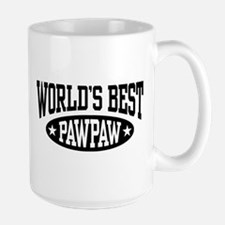 World's Best PawPaw Large Mug