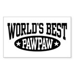 World's Best PawPaw Sticker (Rectangle)