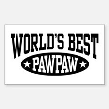 World's Best PawPaw Sticker (Rectangle)