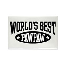World's Best PawPaw Rectangle Magnet