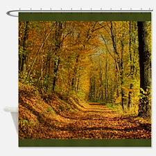 Autumn Forest Trail Shower Curtain