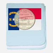 North Carolina Quarter 2001 baby blanket