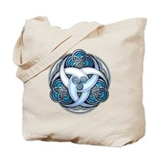 Celtic Triple Crescents - Blue Tote Bag