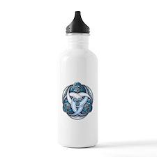 Celtic Triple Crescents - Blue Water Bottle