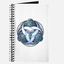 Celtic Triple Crescents - Blue Journal