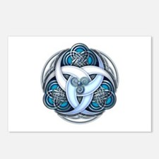 Celtic Triple Crescents - Blue Postcards (Package