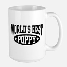 World's Best Poppy Ceramic Mugs