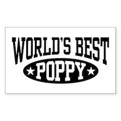 World's Best Poppy Sticker (Rectangle)