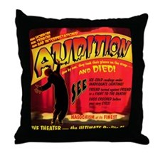 Audition Horror Movie Throw Pillow