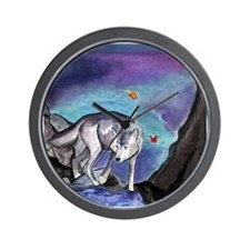 Samantha's Tarot Moon Wolf Card Wall Clock