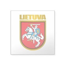 "Lithuania COA 2.png Square Sticker 3"" x 3"""
