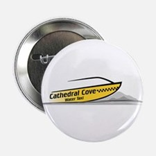 """Cathedral Cove Water Taxi 2.25"""" Button (10 pack)"""