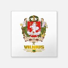 """Vilnius COA (Flag 10)2.png Square Sticker 3"""" x 3"""""""