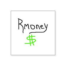 "mitt romney rmoney Square Sticker 3"" x 3"""