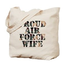 Proud Air Foce Wife Tote Bag