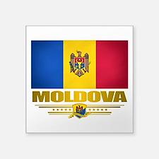 """Moldova (Flag 10) 2.png Square Sticker 3"""" x 3"""""""