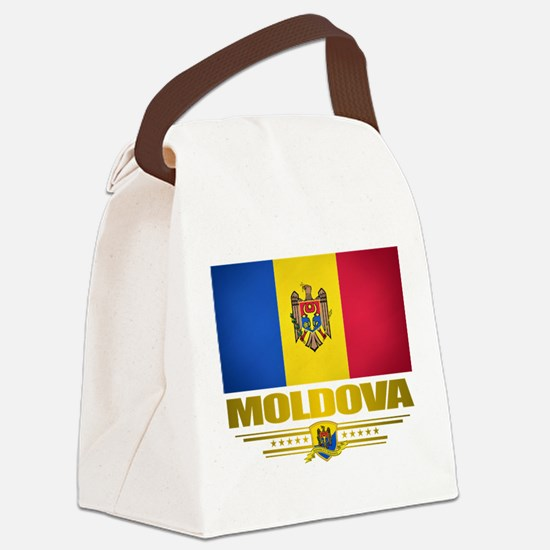 Moldova (Flag 10) 2.png Canvas Lunch Bag