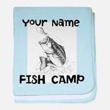 Personlize Fish Camp baby blanket