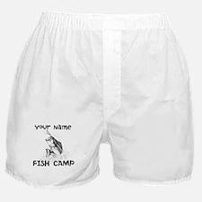 Personlize Fish Camp Boxer Shorts