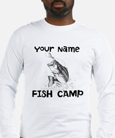 Personlize Fish Camp Long Sleeve T-Shirt