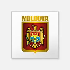 "Moldova Gold.png Square Sticker 3"" x 3"""