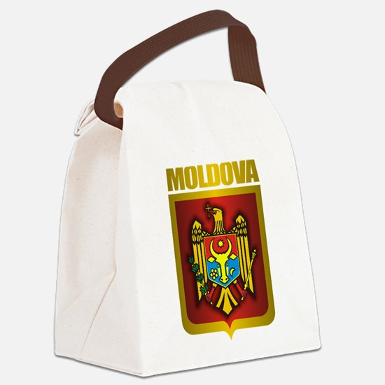 Moldova Gold.png Canvas Lunch Bag