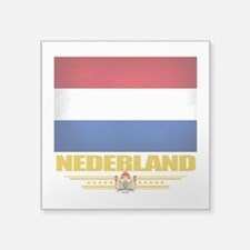 "Netherlands (Flag 10).png Square Sticker 3"" x 3"""